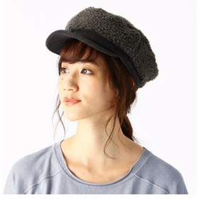 【COMME CA ISM:帽子】ボア キャップ(ONIGIRI)