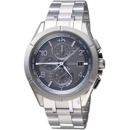 CITIZEN星辰衝鋒時機電波鈦金屬腕錶    AT8160-55H