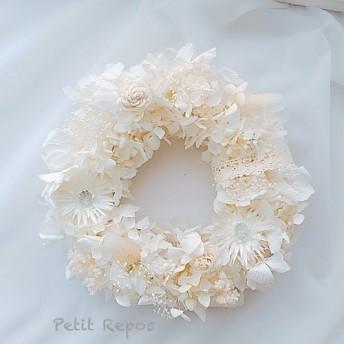 紫陽花のふんわりホワイトリース