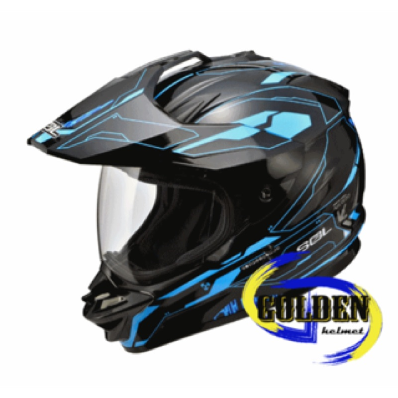 【GD佳德】複合式越野安全帽 SOL SS1 光速 黑藍