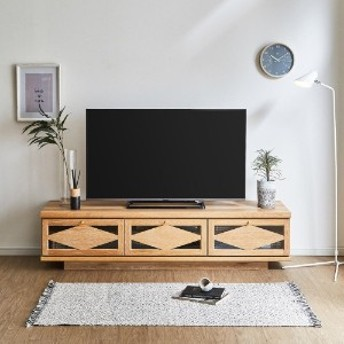 【国産】オーク材の塩系デザインテレビ台