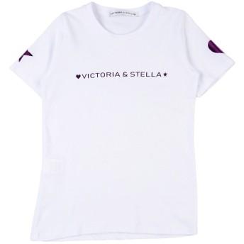 《セール開催中》VICTORIA & STELLA ガールズ 9-16 歳 T シャツ ホワイト 10 コットン 80% / ポリウレタン 20%