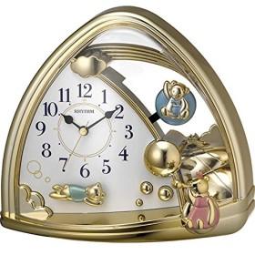 名入れプレート付き 置き時計 ファンタジーランド762SR 名入れプレート付 き