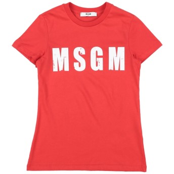 《セール開催中》MSGM ガールズ 9-16 歳 T シャツ レッド 10 コットン 100%