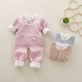 冬の赤ちゃん服卸売乳幼児三階保温下着セット男女赤ちゃん背もたれズボン二点セット