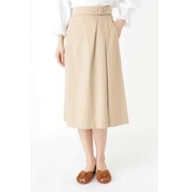 【HUMAN WOMAN:スカート】◆スラブサテンタンブラースカート