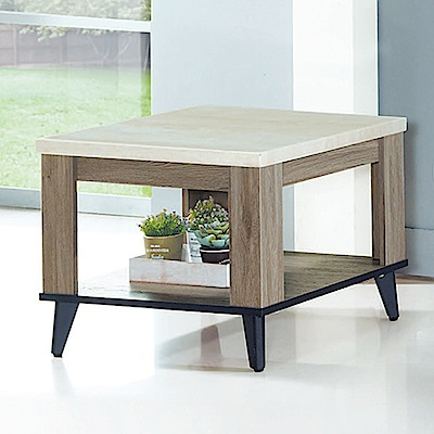Boden-艾克森2尺仿石面小茶几/邊桌-60x60x47cm