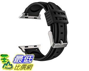 [106美國直購] MoKo Apple Watch Band Series 1 Series 2,Soft Silicone Replacement Sports Band+Watch Lugs f