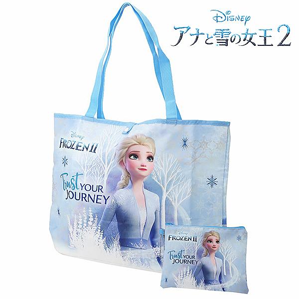 【冰雪奇緣2 購物袋】冰雪奇緣2 購物袋 摺疊 收納 艾莎 日本正版 該該貝比日本精品 ☆