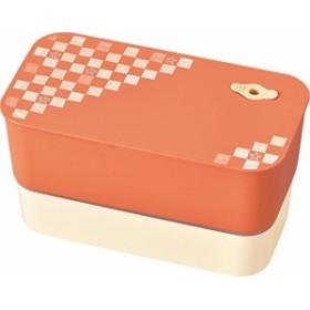 【日本製】カノー 日本伝統色 長角二段弁当 柿色
