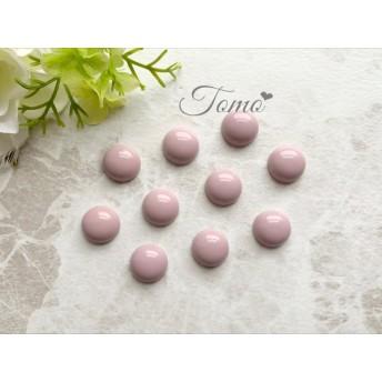 【10個】ピンク アクリルカボション ラウンド カボション #32315