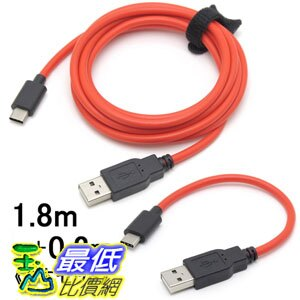[106東京直購] Route-r 超快速充電線組 RC-HCAC1802R USB Type-C 2入(1.8米 + 0.2米)