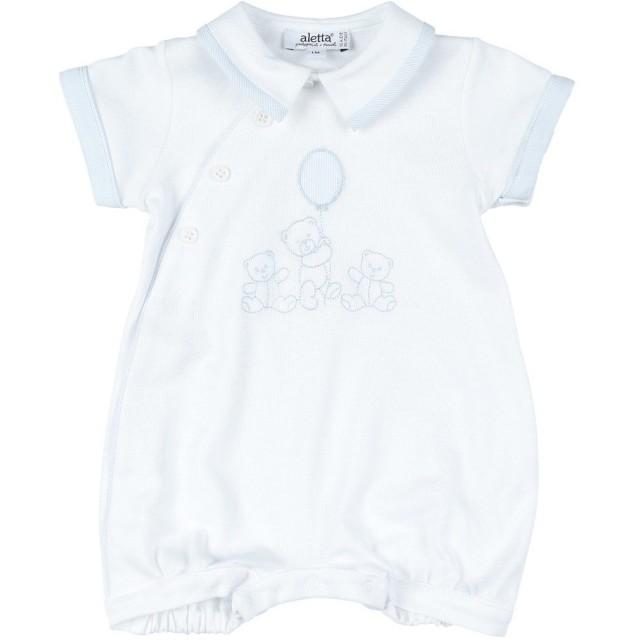 《セール開催中》ALETTA ボーイズ 0-24 ヶ月 乳幼児用ロンパース ホワイト 1 コットン 100%