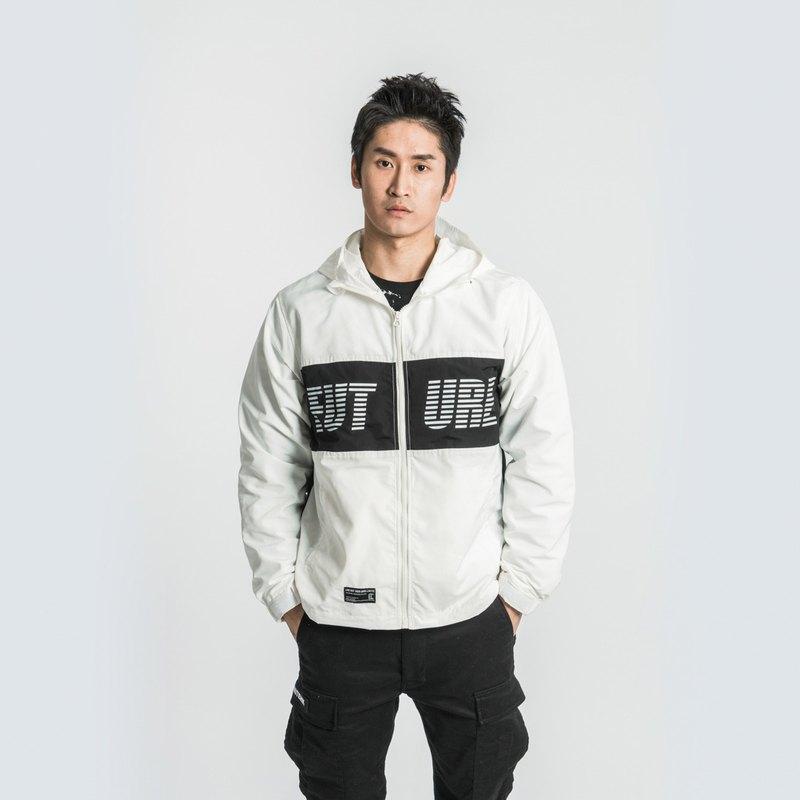 L.I.M.I.T.E - 男裝印花風褸, 白色