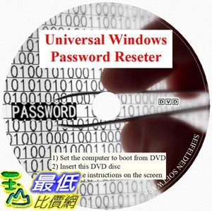 [7美國直購] 2018 amazon 亞馬遜暢銷軟體 Universal Windows Password Reset DVD Disc Compatible for Windows 10, Win