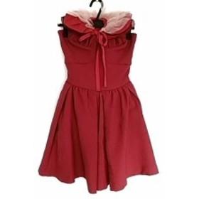 リリーブラウン Lily Brown ドレス サイズ1 S レディース 美品 レッド【中古】20191129