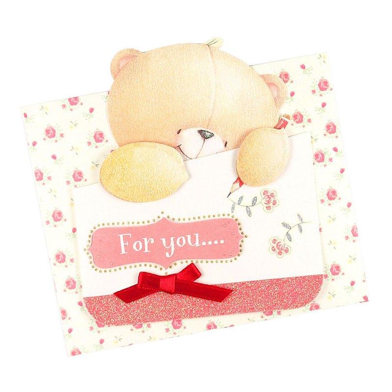 熊熊寫信給你【Hallmark-ForeverFriends-立體卡片 多用途】