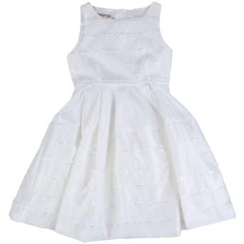 《セール開催中》LA STUPENDERIA ガールズ 9-16 歳 ワンピース&ドレス ホワイト 10 ポリエステル 52% / シルク 42% / ナイロン 6%