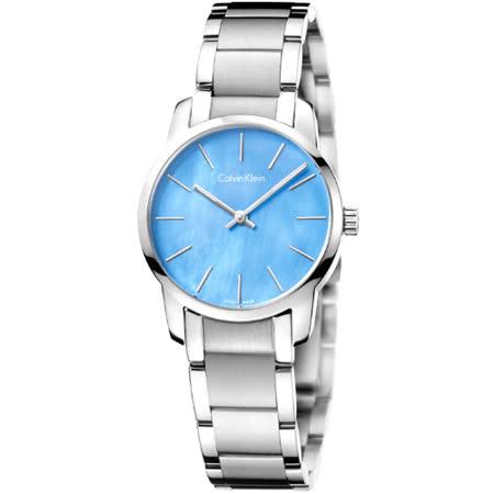 CK City 紐約第五大道都會女錶-藍彩珍珠貝(K2G2314X)