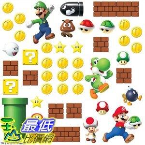 [8美國直購] RoomMates Nintendo 壁貼 Super Mario Build A Scene Peel And Stick Wall Decals - RMK2351SCS B00J