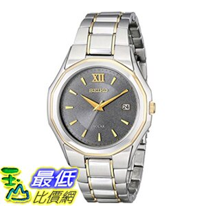[美國直購] Seiko Men's 男士手錶 SNE166 Classic Solar-Powered Two-Tone Stainless Steel Watch with Link Bracel