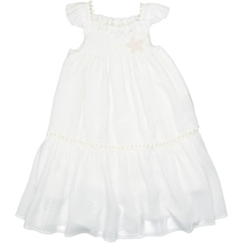 《セール開催中》LA STUPENDERIA ガールズ 0-24 ヶ月 ワンピース・ドレス ホワイト 6 レーヨン 100%