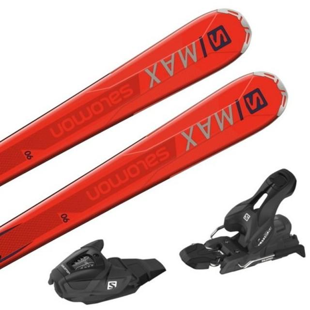 サロモン S/MAX 6 + LITHIUM 10 (L40533200162/L4050880010) スキー 板 金具付き : オレンジ×ブラック SALOMON 【取付無料】