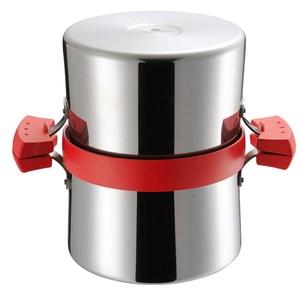 日本《UCHICOOK》健康兩用油炸鍋‧濾油壺(紅)