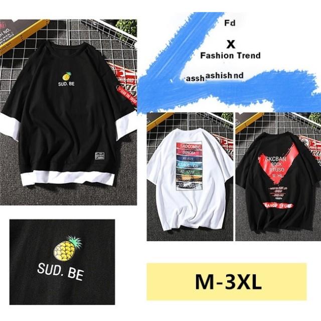 韓国ファッション メンズ 半袖 Tシャツ 流行 ト 人気商品 個性 シンプル