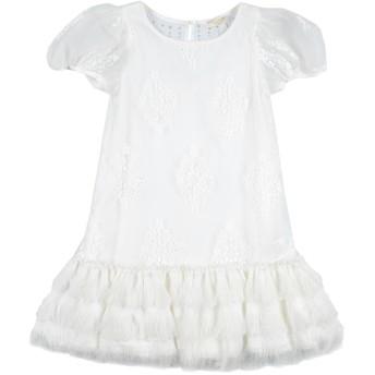 《セール開催中》MONNALISA CHIC ガールズ 9-16 歳 ワンピース&ドレス ホワイト 10 ナイロン 100% / ポリエステル