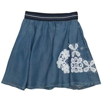 《セール開催中》BYBLOS ガールズ 9-16 歳 デニムスカート ブルー 16 指定外繊維(テンセル) 100%