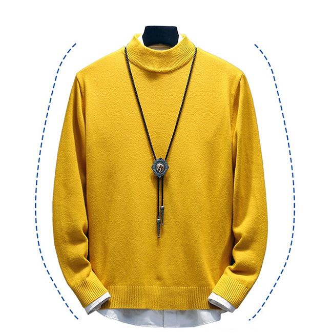 FOFU-針織衫半高領毛衣韓版針織衫加厚純色內搭衫【08B-B1982】