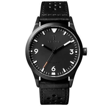 TRIWA Sort of Black 系列  北歐葛羅風情時尚腕錶-黑
