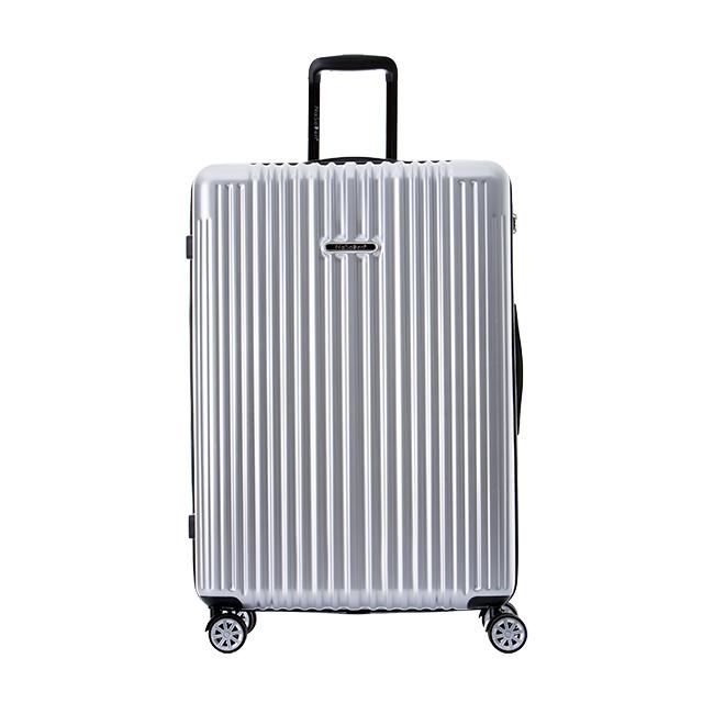 【NaSaDen 納莎登】新無憂系列26吋TSA海關鎖拉鍊行李箱(班貝格銀)