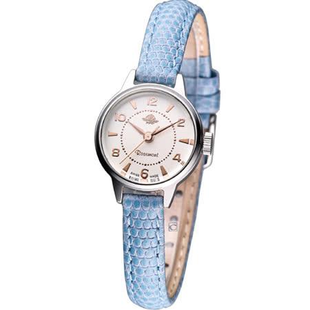 Rosemont 骨董風玫瑰系列 時尚腕錶RS001-07藍色