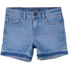 《セール開催中》TOMMY HILFIGER ガールズ 3-8 歳 デニムショートパンツ ブルー 6 コットン 100%
