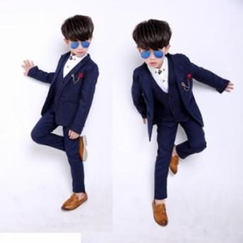 メーカー卸売りの男の子スーツ2019秋冬子供服セット韓国版花童礼服3点セット