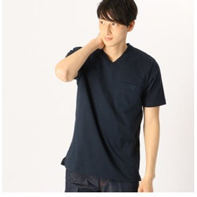 【COMME CA ISM:トップス】<汗染み防止加工> Vネック Tシャツ