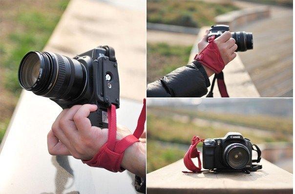 又敗家@高級韓國馬田真皮手腕帶MATIN手腕帶馬田手腕帶(M-7370黑色/M-7371紅色,大面積附支架)適翻轉螢幕LCD螢幕  大單眼相機錄影攝影機手脕帶單眼相機手腕帶單眼手腕帶單反手腕帶單反相機