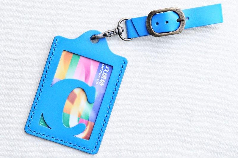 【彩虹系?RAINBOW8|翱翔藍|AZEUPPO—頭文字A至Z 英文字母行李吊牌】好好縫 皮革材料包 免費壓字 手工包 彩虹 卡片套 卡片夾 名片夾 行李掛牌 旅行 護件夾 證件夾 簡約實用 意大利