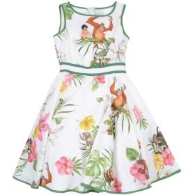 《セール開催中》MONNALISA ガールズ 9-16 歳 ワンピース&ドレス ホワイト 10 コットン 100%