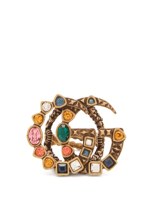 Gucci - GG Crystal Ring - Womens - Multi