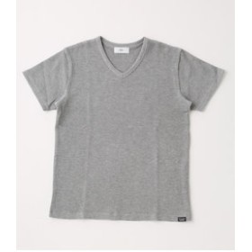 【AZUL by moussy:トップス】【MEN'S】COTTON WAFFLE V/N T-SHIRT