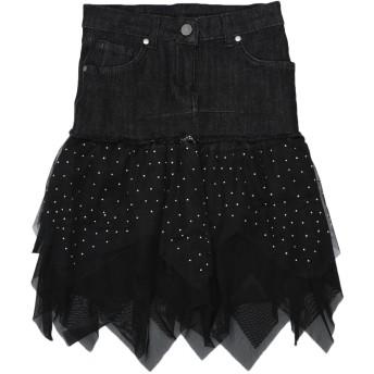 《セール開催中》MISS GRANT ガールズ 9-16 歳 デニムスカート ブラック 9 コットン 98% / ポリウレタン 2% / ポリエステル