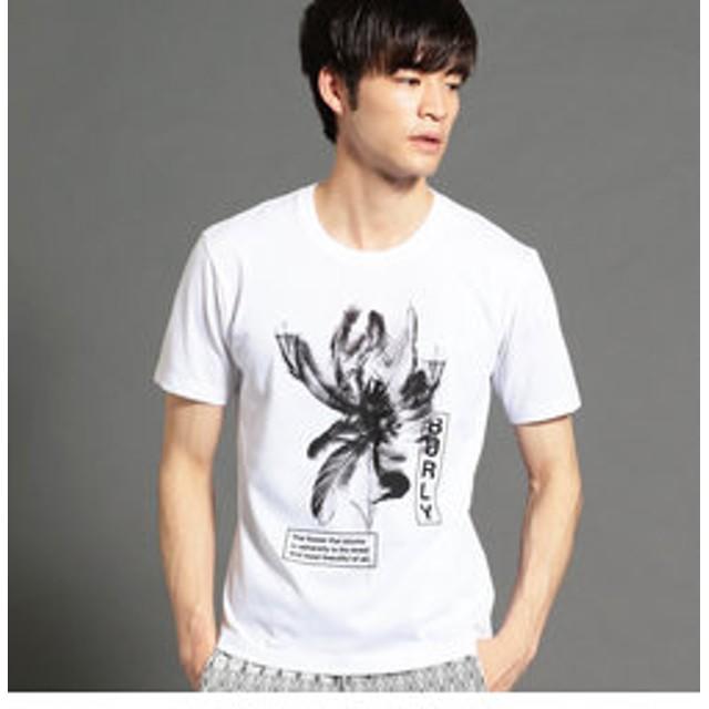 【NICOLE:トップス】フェザープリントTシャツ