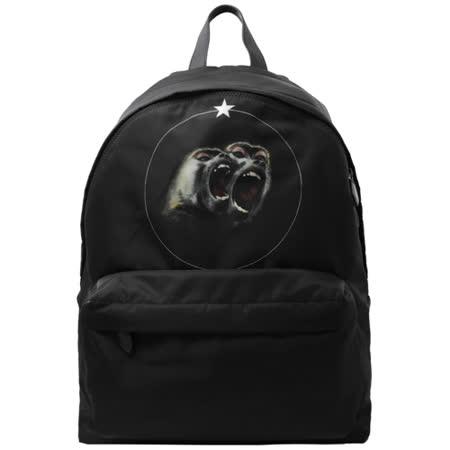 Givenchy 紀梵希 猴子印花尼龍雙肩後背包 黑 BJ05760444