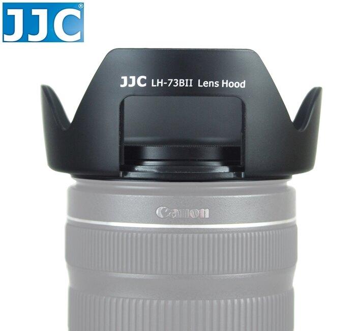 又敗家@JJC佳能Canon副廠遮光罩EW-73B遮光罩適EF-S 18-135mm f3.5-5.6 IS STM 17- 85mm F4-5.6 IS USM蓮花遮光罩,可反裝倒扣相容Canon原