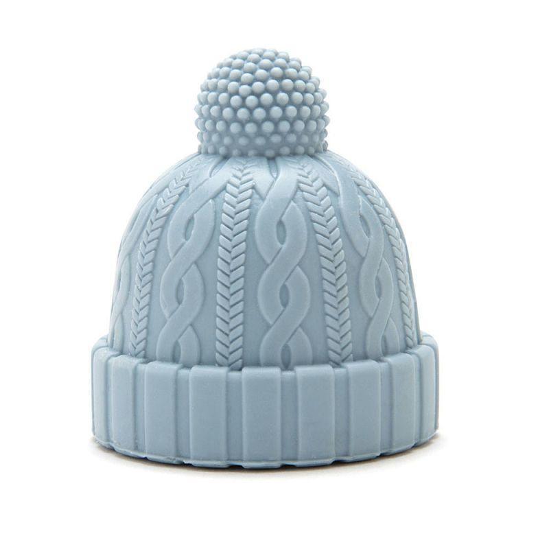 酒瓶塞 - 毛帽(藍)
