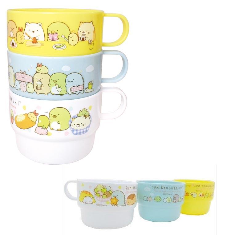角落小夥伴 三個一組疊疊水杯 日本正版品 角落生物 san-x