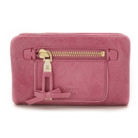 LANVIN en Bleu(BAG) LANVIN en Bleu ランバンオンブルー アメリ 二つ折り財布 財布,ピンク